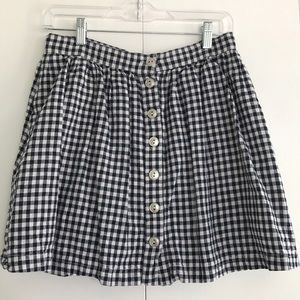 Dresses & Skirts - Gingham checkers button down skirt